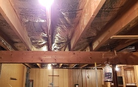 MD Home Inspector Structure Joists Beams Flooring Insulation