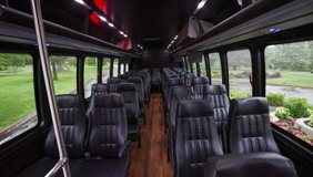 luxury 24-40 passenger Executive minibus for all type shuttle services in DC, MD, VA