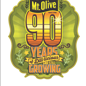 Mt Olive 90 Year Celebration Logo