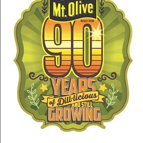 Mt Olive 90 Year Celebration Logo