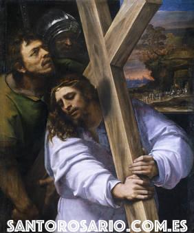 Cuarto Misterio Doloroso: Jesús con la Cruz a cuestas camino del Calvario