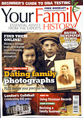 See us in the Your Family History Magazine Issue 22 December 2011