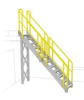 General Straight Metal Stair