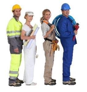 Bauhandwerker, Bauherr, Baumeister, Bauunternehmen, Gewerke