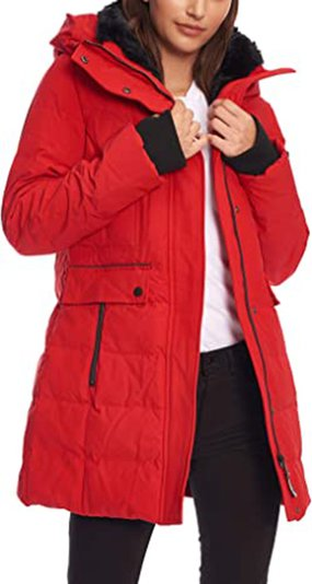 Alpine North down mid-length parka coat | 40plusstyle.com