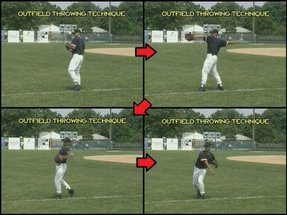 youth baseball outfield throwing