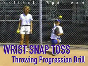 wrist snap toss drill throwing progression drill copy