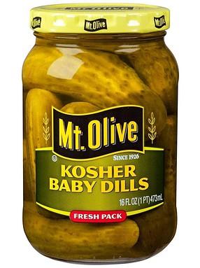 Mt. Olive Kosher Baby Dills Jar
