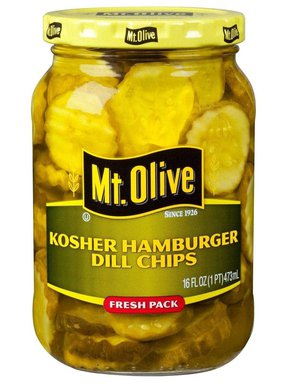Kosher Hamburger Dill Chips Jar Front