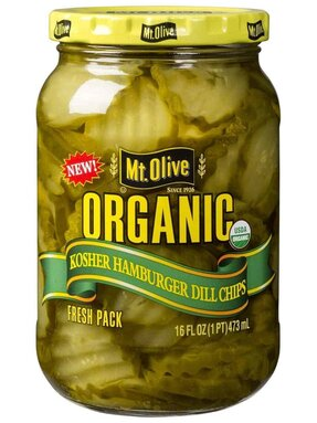 Organic Hamburger Dill Chips Jar