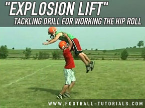 TACKLING DRILL FOR WORKING THE HIP ROLL