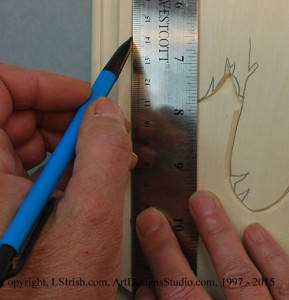 Marking a border for relief wood carving