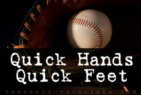 quick hands quick feet baseball throwing drill
