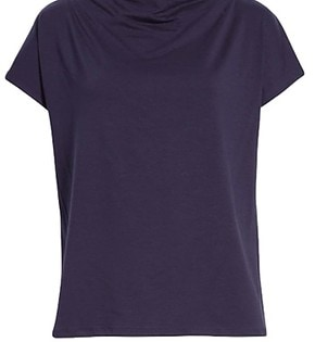 Eileen Fisher cowl neck tee | 40plusstyle.com