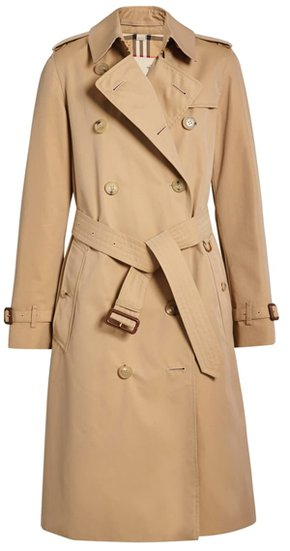 Burberry Kensington Long Trench Coat | 40plusstyle.com