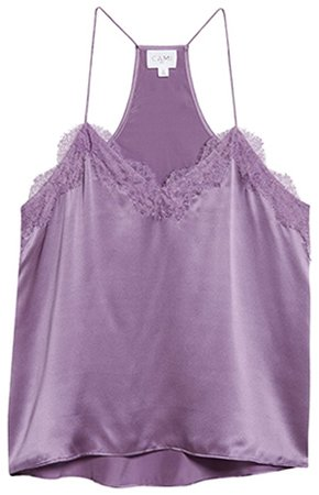 Best camisoles - CAMI NYC silk charmeuse racer camisole | 40plusstyle.com