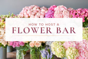 How to Create A DIY Flower Bar During Your Celebration