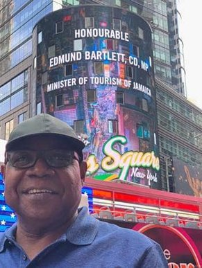 Times Square NYC Welcomes Jamaica's Minister of Tourism, Hon. Edmund Bartlett