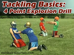tackling basics 4 point explosion drill