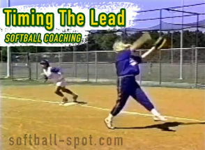 Softball Coaching Timing the Lead