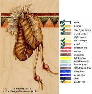 using colored pencils with your wood burnings