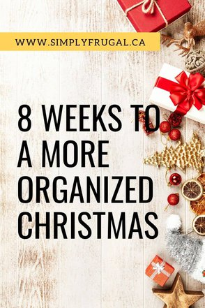 Not only do I want a more organized Christmas season of my own, I'm hoping I can help you as well! Introducing... the 8 Weeks to a More Organized Christmas series!