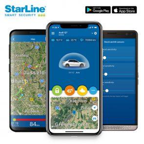 Starline S66-2 Autoalarm mit Wegfahrsperre, GSM, Bluetooth TAG (2x), ohne GPS Ortungssystem, zu steuern über Starline Smartphone App zum Festpreis inkl. Montage 959€