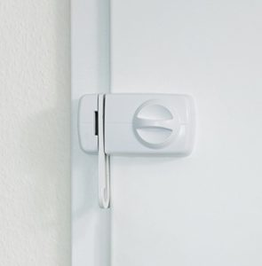 Abus 532764 7030 W Tür-Zusatzschloss mit Sperrbügel