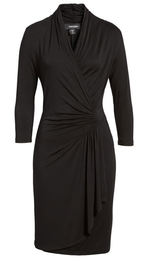 cascade wrap dress | 40plusstyle.com