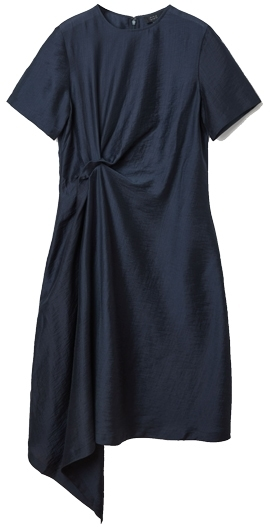 COS knot drape dress | 40plusstyle.com