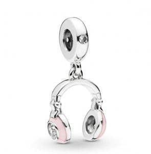 Pandora Charm Replica AliExpress Pendant 004 Pink Headphones Dangle Charm 1