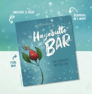 Vorläufiges Cover des Kinderbuchs die Hagebutte und der Bär