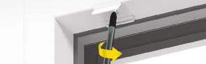 Voorbeeld van plisse met koord clips vastschroeven plafondmontage