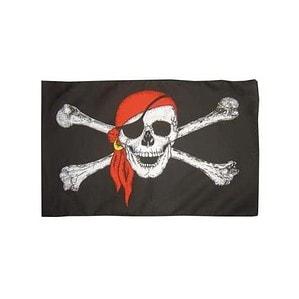 Bandera Pirata con Calavera y Bandana 1.5m x 0.90cm