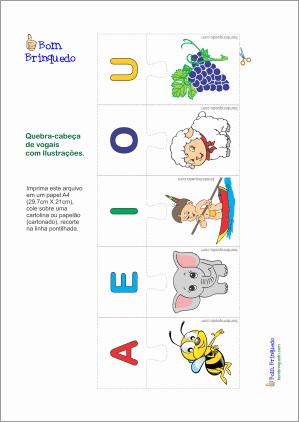 quebra-cabeça vogais download grátis