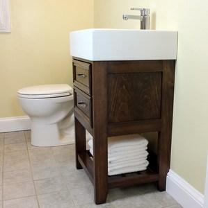Small Size, Big Style DIY Bathroom Vanity
