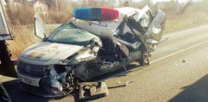 Polițist din Teleorman aflat în misiune, rănit grav într-un accident de circulație pe DN 6