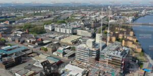 Aerial photograph of Glasgow Construction
