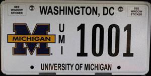 DC license plate