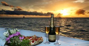 Champagne Sunset Cruise - glass of bubbly