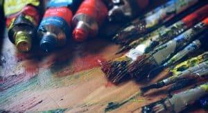 Oil paint supplies