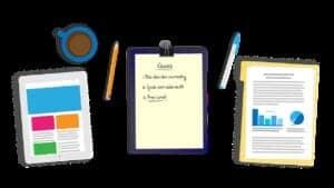 desk, tablet, notes-2037545
