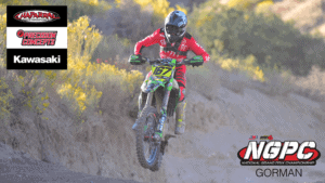Photo of Zach Bell riding his KX450 at the 2019 Gorman NGPC