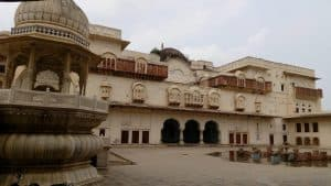 Front View of Moti Dungari Fort in Rajasthan