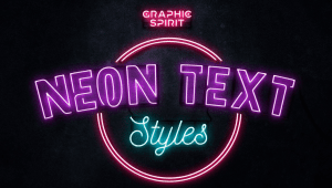 Free Neon Text Layer File and Extras