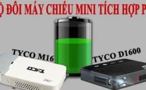 Bộ đôi máy chiếu mini tích hợp pin