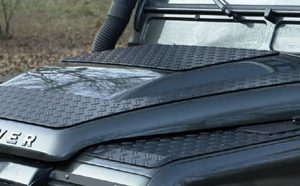 Motorhaubenblech Defender TD4 schwarz eloxiert