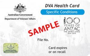 DVA Governemtn Subsidies Card