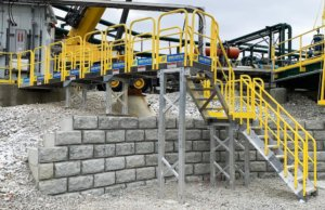 Metal Work Platform With Stairs