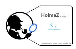 HolmeZ Newsreader Startbildschirm